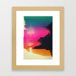 digital beachhead Framed Art Print