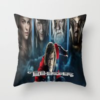 thor Throw Pillows featuring Thor by store2u