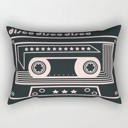 Black and White Disco Music Cassette Rectangular Pillow
