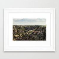 palo alto Framed Art Prints featuring Palo Duro Canyon Landscape by Will Milne