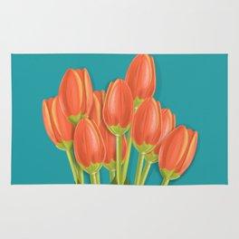 Orange Tulips Rug