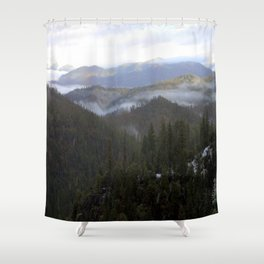 Snowy day on Highway 36 Shower Curtain