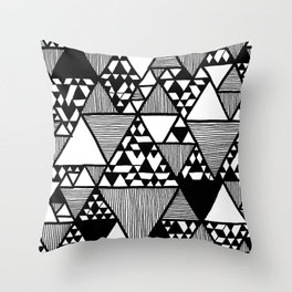 Triangular world Throw Pillow