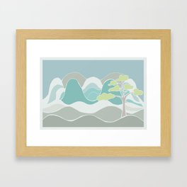 Into the Hills Framed Art Print