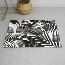 Tropical Jungle Leaves Pattern #10 #tropical #decor #art #society6 Rug
