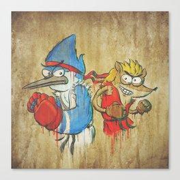RSxSF series - Mordecai & Rigby Canvas Print