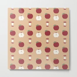 Red Apple - Mocha Pattern Metal Print