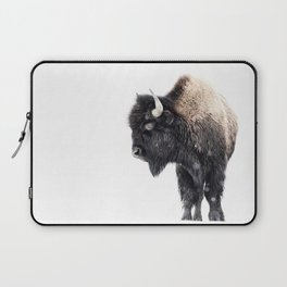 Bison Standing in a Snowstorm Laptop Sleeve