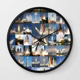Shuttle Montage Wall Clock