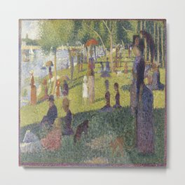 Georges Seurat's A Sunday Afternoon on the Island of La Grande Jatte Metal Print