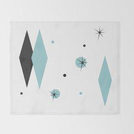 Vintage 1950s Mid Century Modern Design Throw Blanket