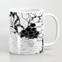 korean Mugs featuring Korean Spring by Madame Mim