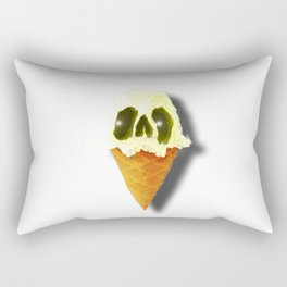 Skull Yellow Ice Cream Rectangular Pillow