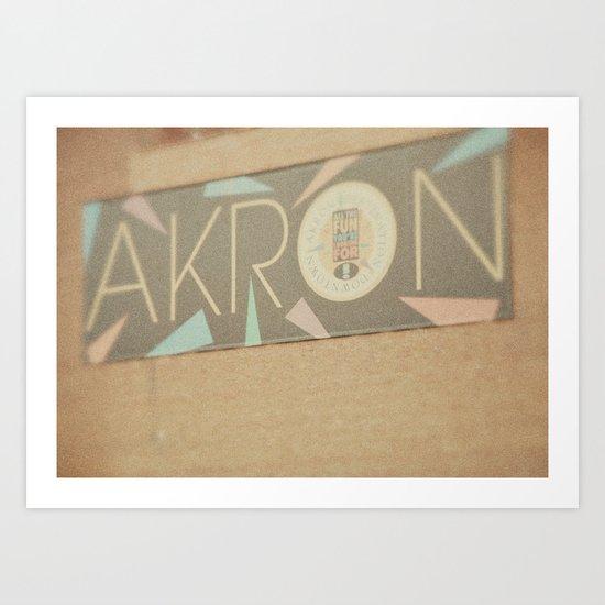 Downtown Akron - Fine Art Print Art Print