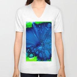 Indigo hibiscus Unisex V-Neck