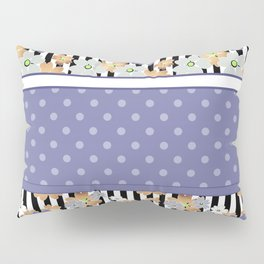 Floral pattern With textured polka dots. Pillow Sham