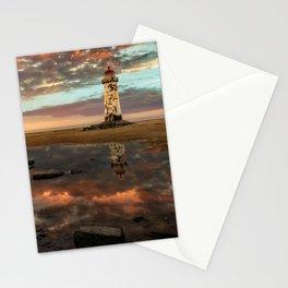 Lighthouse Sunset Wales Stationery Cards