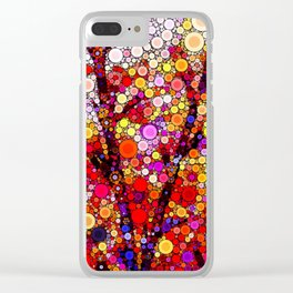 Planting Cherry Trees Clear iPhone Case