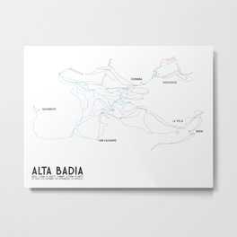 Alta Badia, ITA - EURO (Labeled) - Minimalist Trail Art Metal Print