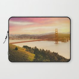 Golden Gate Bridge | San Francisco California Landscape Sunset Travel Photography Laptop Sleeve