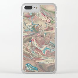 Oceans of violets and blue Clear iPhone Case