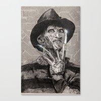 freddy krueger Canvas Prints featuring freddy krueger by calibos