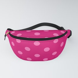 Extra Large Light Hot Pink Polka Dots on Dark Hot Pink Fanny Pack