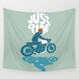 just ride Wall Tapestry