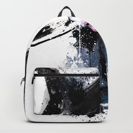 Fashion Beauty, Fashion Painting, Fashion IIlustration, Vogue Portrait, Black and White, #15 Backpack