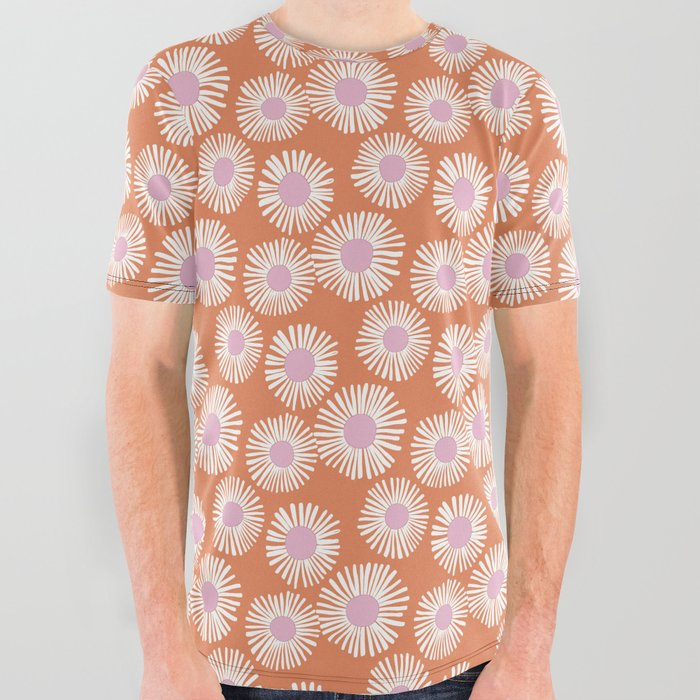 Terracotta Daisy All Over Graphic Tee