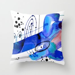 Abstract Serenade 4d by Kathy Morton Stanion Throw Pillow