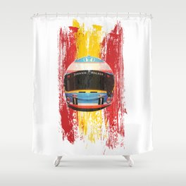 Fernando Alonso #14 - 2017 Shower Curtain