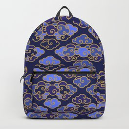 Blue Japanese Clouds Backpack