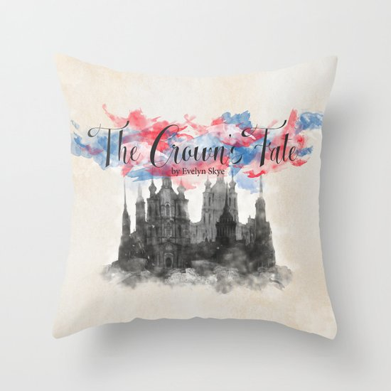 The Crown's Fate by Evelyn Skye Throw Pillow