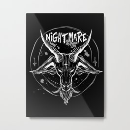 Nightmare : Black Winter King Metal Print