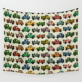 Old Timey Cars Wall Tapestry