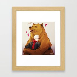 APH: 2pBear hug Framed Art Print