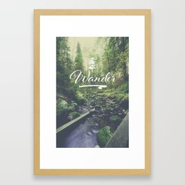 Mountain of solitude - text version Framed Art Print