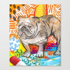 Bulldog pop art Canvas Print