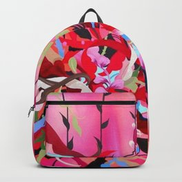 Red Arrangement Backpack