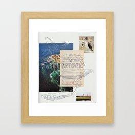 just start over Framed Art Print