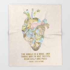 A Traveler's Heart + Quote Throw Blanket