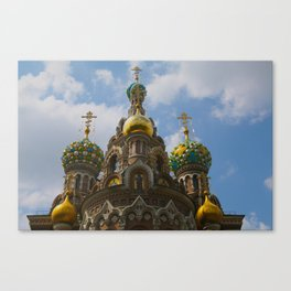 CHURCH OF OUR SAVIOR ON THE SPILLED BLOOD-SAINT PETERSBURG, RUSSIA  Canvas Print