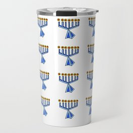 menorah 7,Hanukkah,jewish,jew,judaism,Festival of Lights,Dedication,jerusalem,lampstand,Temple, מְנו Travel Mug