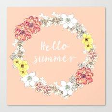 Hello Summer Canvas Print