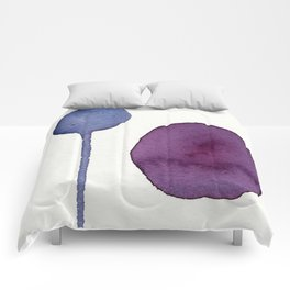 Ultra Violet Shapes Abstract Painting Comforters