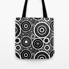 Abstract black and white pattern. Tote Bag