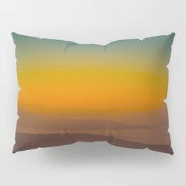 Pretty Pastel Yellow Red Green Sunset With Lone Pine Tree Silhouette Pillow Sham
