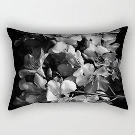 Oleander flowers in black and white 2 Rectangular Pillow