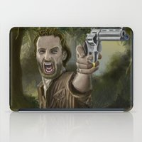 rick grimes iPad Cases featuring Rick Grimes by Paulo Fodra